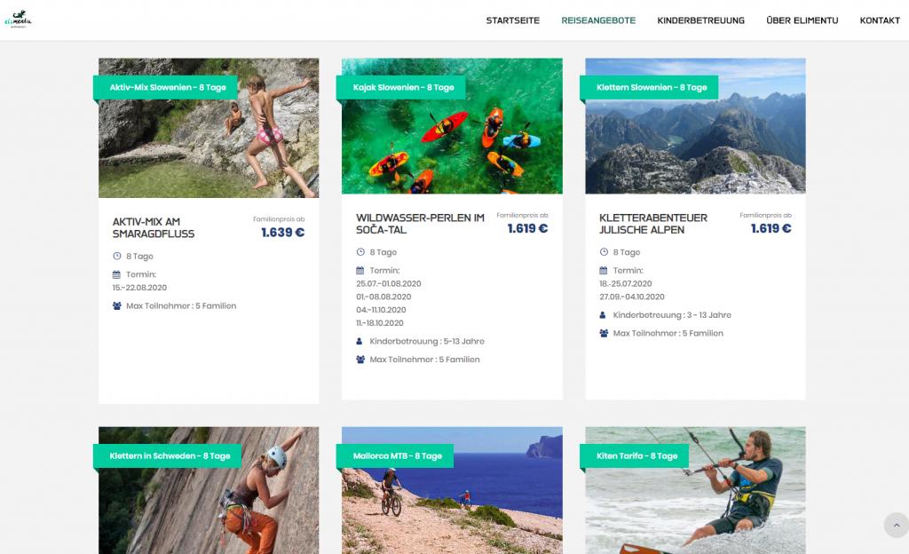 Online Marketing für den Reiseveranstalter Elimentu Aktivreisen GmbH