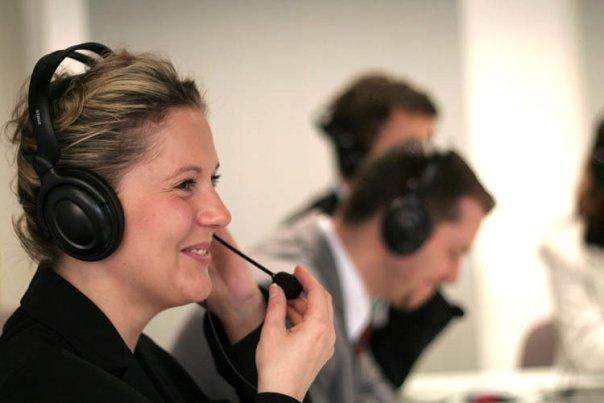 Hotline Callcenter Fotografie Mitarbeiter Firma Business